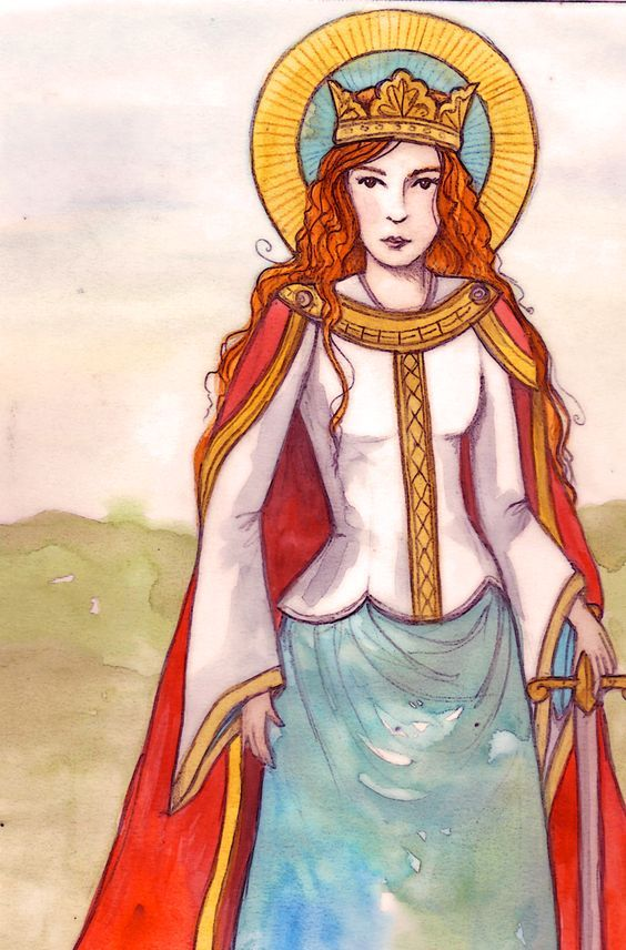 Saint Dymphna, an Irish girl. Her father was a pagan Irish King, but her mother was a devout Christian. King Damon was devoted to his wife, so much so, when she died, he insisted that his new wife be as beautiful as his first. Dymphna was only 14 when her mother passed....