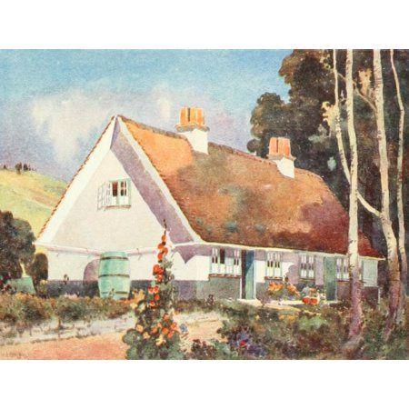 Posterazzi Studio 68 1916 Chelmsford rural cottage Canvas Art - Arnold Mitchell (24 x 36)