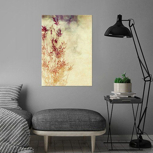 BAMBOO PART I by Pia Schneider [atelier COLOUR-VISION]. Modern Mixed Media: Abstract painting, textures, bokeh, leaves and bamboo drawings. #art #displate #metalcanvas #bamboo #plants #abstract #painting #piaschneider #artprints