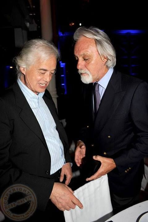 Jimmy Page with Richard Cole, ex LZ tour manager. Photo: Ross Halfin