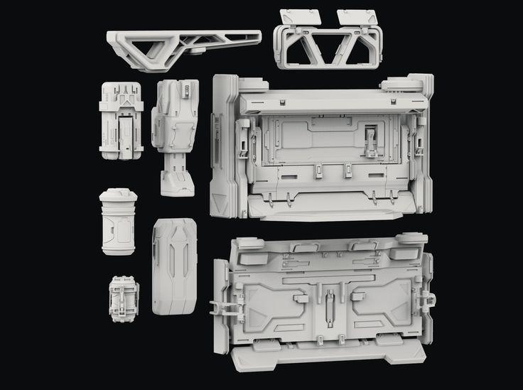 3d Kitbash Set Sci Fi Props Settings Concept Design
