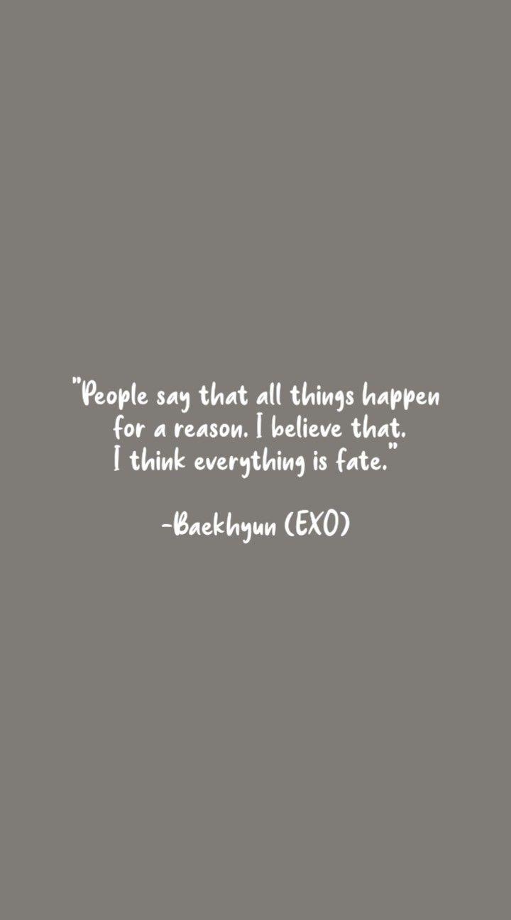 QUOTES BAEKHYUN EXO di 2020 | Kata-kata motivasi, Motivasi ...
