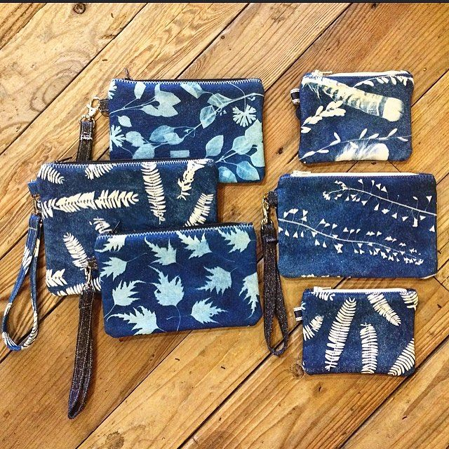 Brand new eye catching zipper pouches from @stephaniemariehatch. Each of these unique bags is printed using the process of cyanotype or sun printing which is an alternative photographic printing method. Oakland-based artist Stephanie uses naturally molted feathers and tree botanicals to create every pattern. Each one of a kind bag is made out of recycled  fabric and is available in our shop in downtown Oakland. #madeinoakland #madeintheusa #cyanotype #sunprinting #fabricart #recycledfashion…