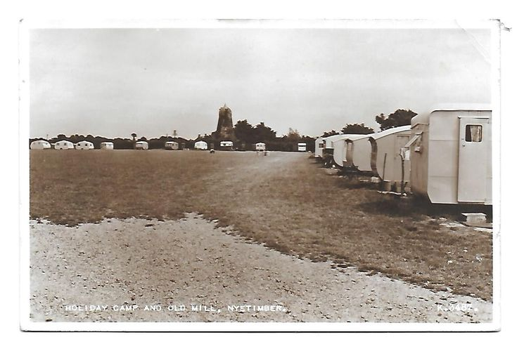 Old Windmill Postcard. Nyetimber Windmill & Holiday Camp, Pagham, Arun. 1953. | eBay