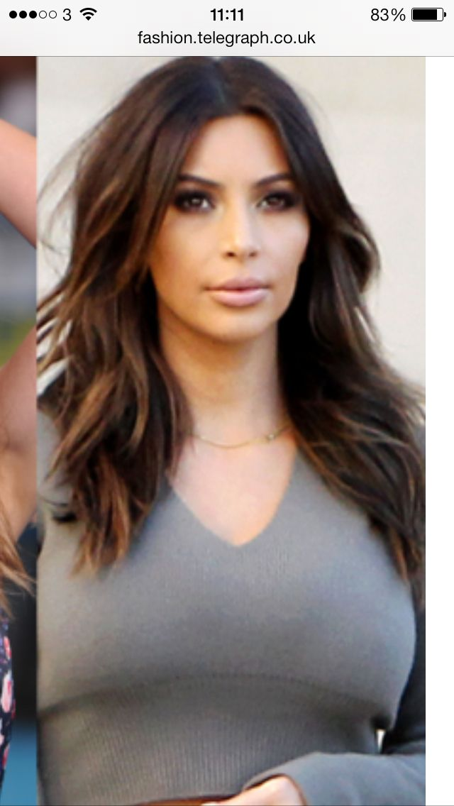 kim kardashian new darker hair 4th feb 2014 hairstyles