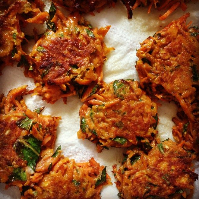 Baby Recipe! sweet potato fritters. My 10 month old LOVED them!