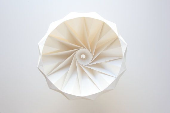 Chestnut paper origami lampshade white by Studio Snowpuppe