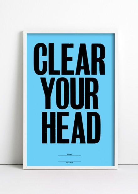 Azul de aclara tu cabeza.