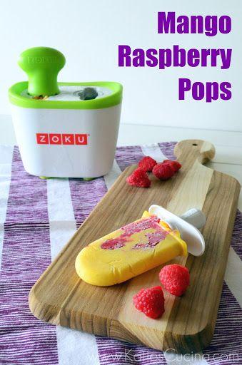 Mango Raspberry Pops + OXO / ZOKU Giveaway | Recipe