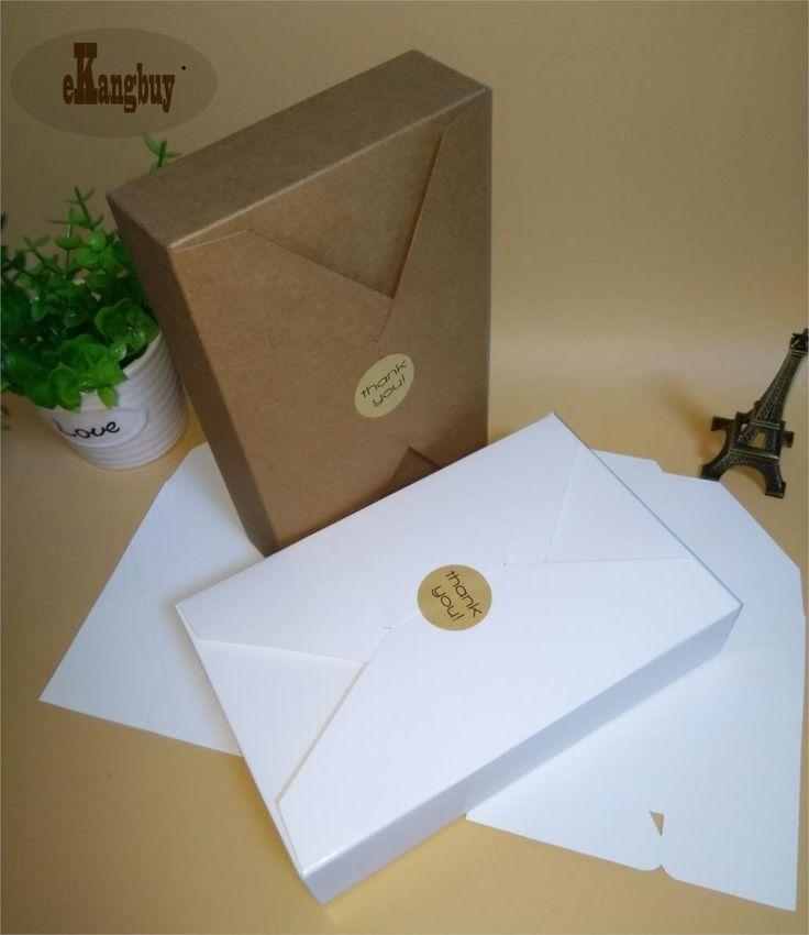 20 шт./лот 19.5 см х 12.5 см х 4 см крафт бумага подарочная коробка тип конверт крафт картон коробки пакет для свадьбы пригласительных билетов купить на AliExpress