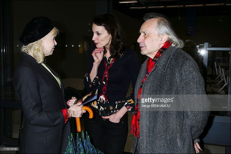 Retrospective Jacques Rivette And Presentation Of His Latest Film ' Ne Touchez Pas La Hache' At The Center Georges Pompidou In Paris, France On March 20, 2007 - Bulle Ogier, Jacques Rivette , Jeanne Balibar.