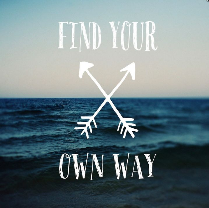 """""""Find Your Own Way"""" posters, pillows, tote bags & more by Alicia Bock on Redbubble. Discover your own path. Make your own destiny."""