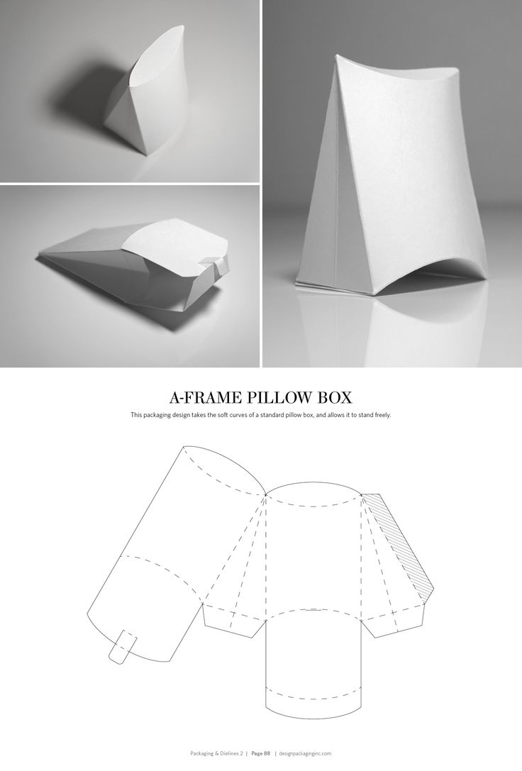 A-Frame Pillow Box – FREE resource for structural packaging design dielines