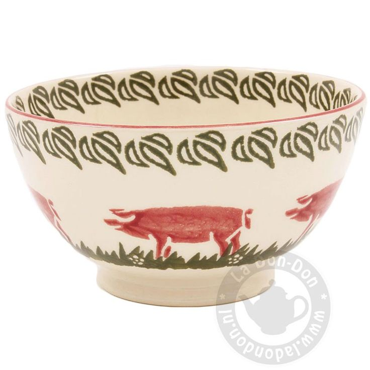 Bowl Deep Cereal Pink Pig