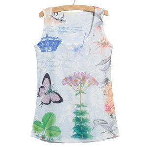 New 2016 Summer style Spongebob print T-Shirts women slim Sleeveless tees women's T-shirt casual Tops camiseta feminina
