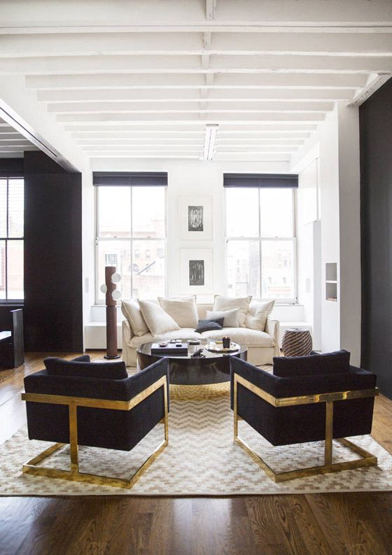 Black And White And Gold Living Room 35 best black, white, gold & wood images on pinterest | home, live