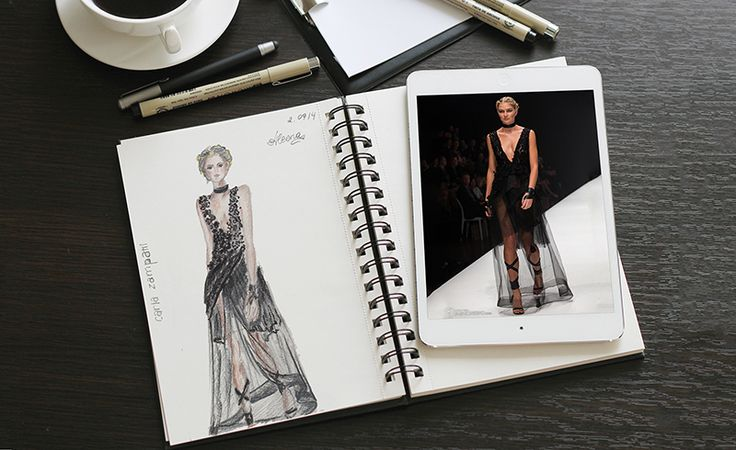 Fashion Illustration - live runway sketching on Behance