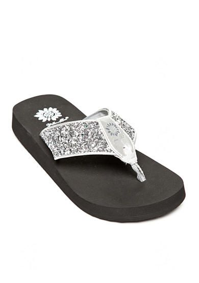 Yellow Box Carolina Glitter Flip-Flops