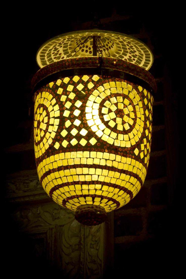 Chakra Yellow Mosaic lamp