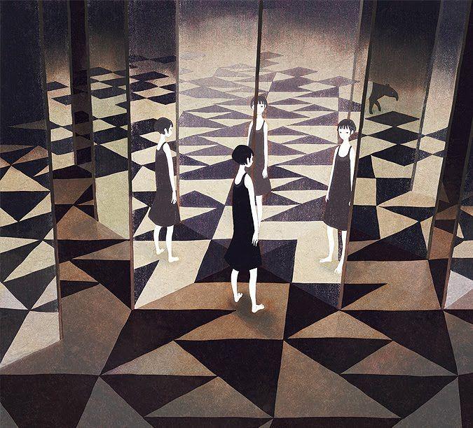 Las obras de Jun Kumaori destacan por las pinceladas delicadas con las que plasma diversos colores en esos fondos oscuros y ocultos