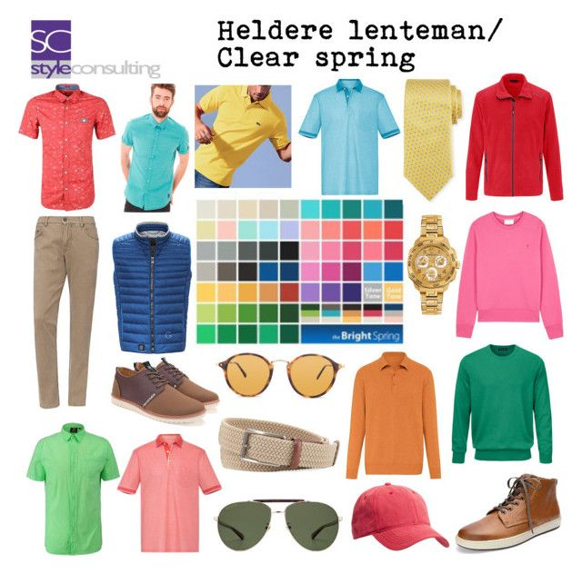"""""""Heldere lente (man). Clear spring/ color analysis for men."""" Margriet Roorda-Faber, Style Consulting."""