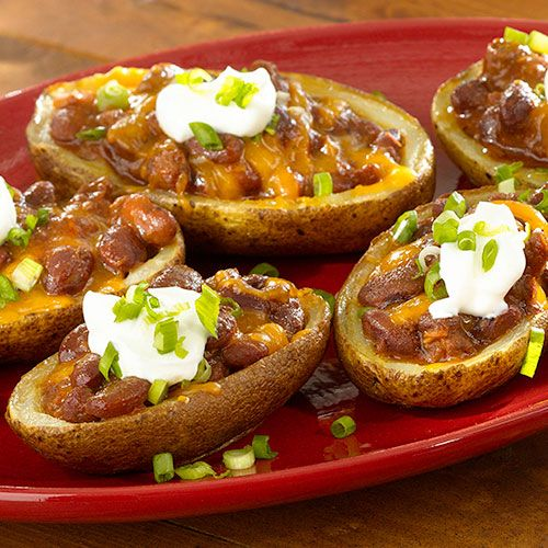 Chili potato skins