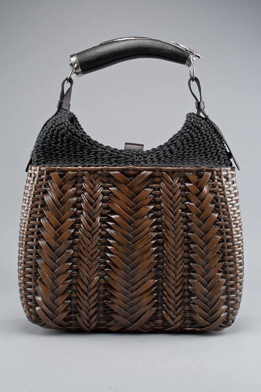 Yves Saint Laurent Wicker Mombasa Tote Bag