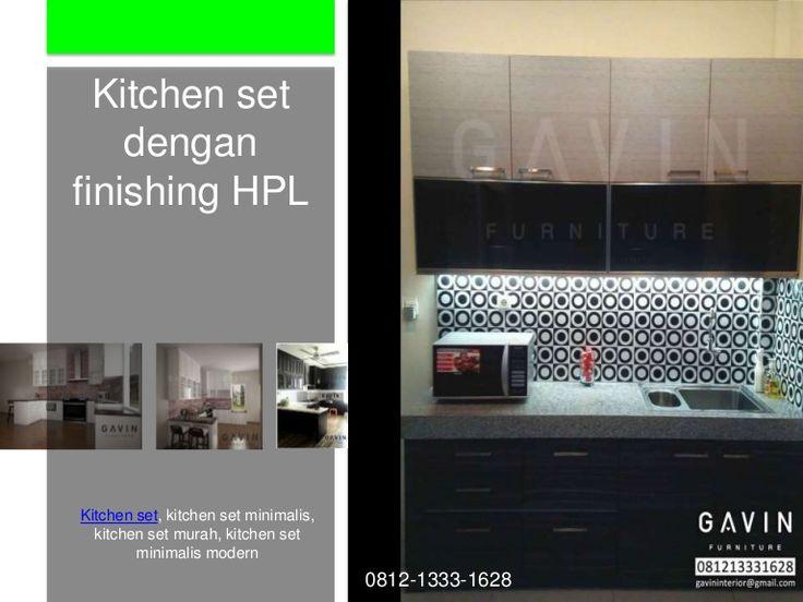 12 best hpl finish kitchen cabinets images on pinterest for Kitchen set hpl putih
