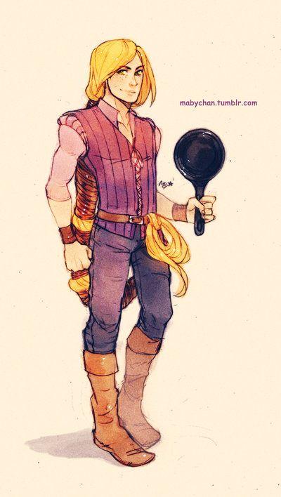 Male Rapunzel - Genderswap Art Disney Dreamworks Characters | The Mary Sue