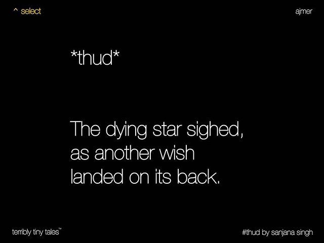 Sanjana Singh from Ajmer writes a #Select tale on #thud #Select Our handpicked…