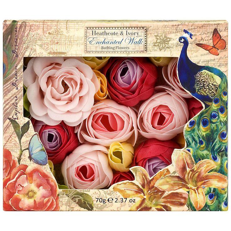 Buy Heathcote & Ivory Enchanted Walk Bathing Flowers, 70g online at John Lewis