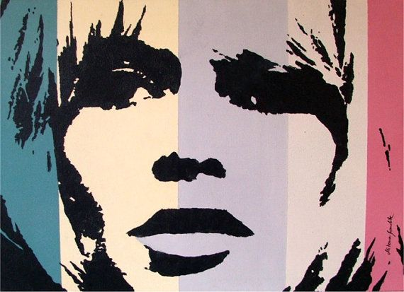 Brigitte Bardot, mid century movie star portrait,  Acrylic Poster Style, contemporary  wall decor, original painting  by Milena Gawlik
