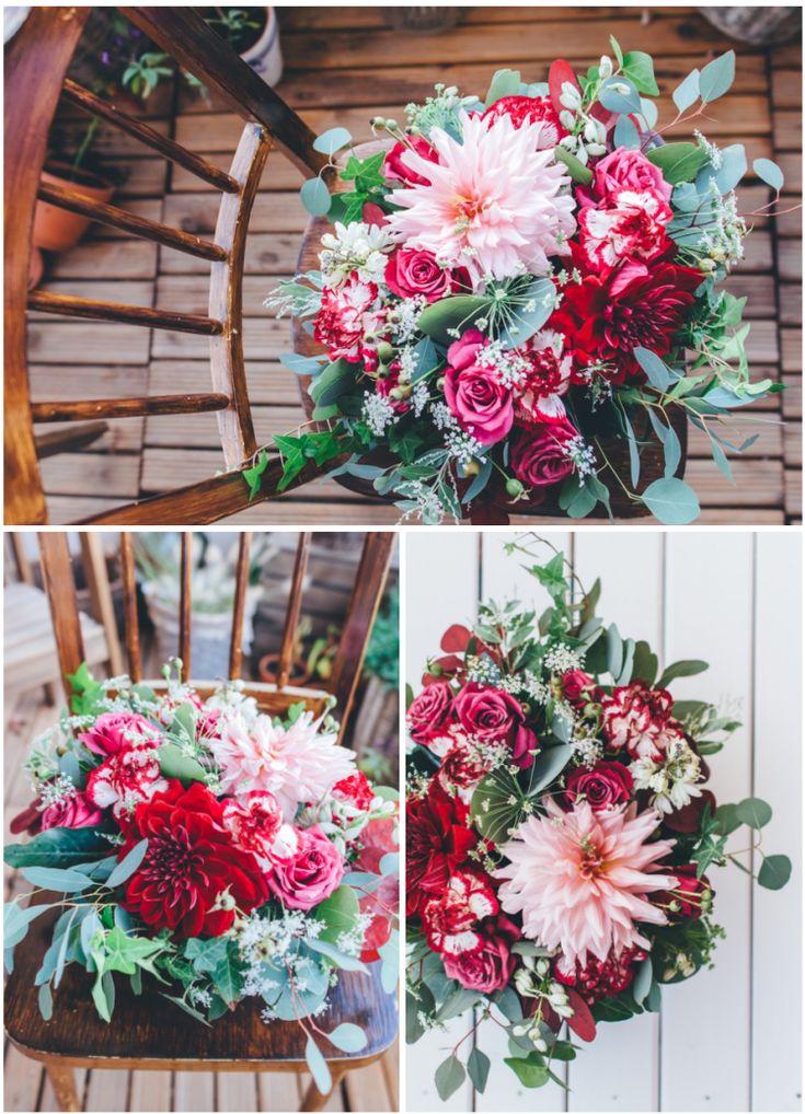 Bukiety ślubne i dekoracje z dalii