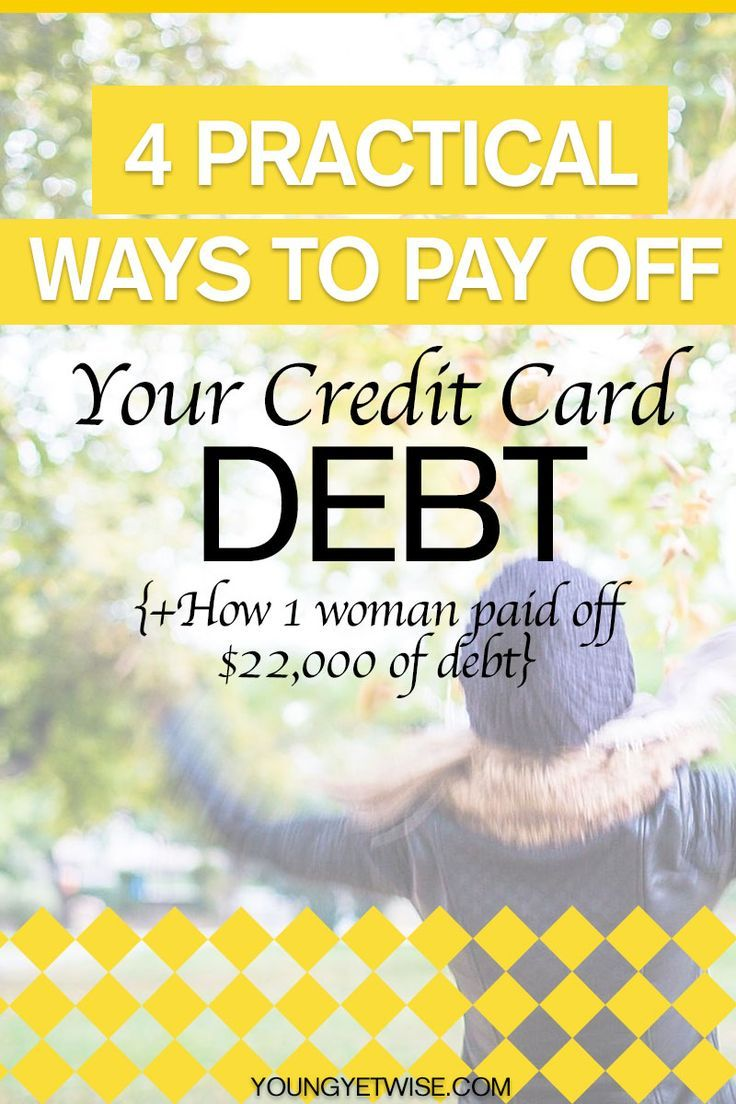 4 practical ways to pay off your credit card debt. Hello who doesn't want to pay off their credit card debt? Well this post is sharing all the tips 1 woman used to pay off $22,000 worth of credit card debt. Be sure to head over and read the post. Oh yeah and there's a FREE printable. http://youngyetwise.com/how-she-paid-off-22000-of-credit-card-debt/