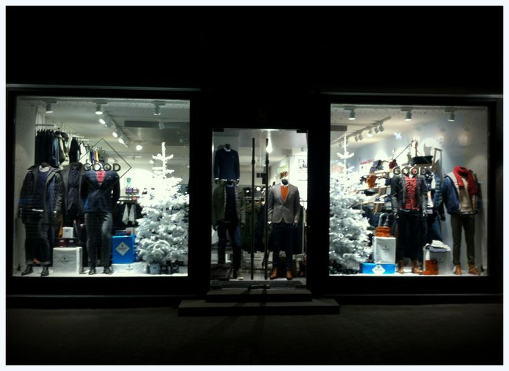 EnaEna Visual Merchandising & Retail Design - christmas window for the store GOOD in Denmark Dec. 2013. #Men #clothing #store VM