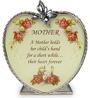 Mom Gifts - Glass Heart Candle Holder - A Mother Holds Her Child's Hand for a Short While Their Hearts Forever - Mom Birthday Gift - Mother-in-law - Mom to Be - Grandma - Great Grandma