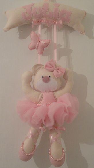 Porta Maternidade Ursa Bailarina tule