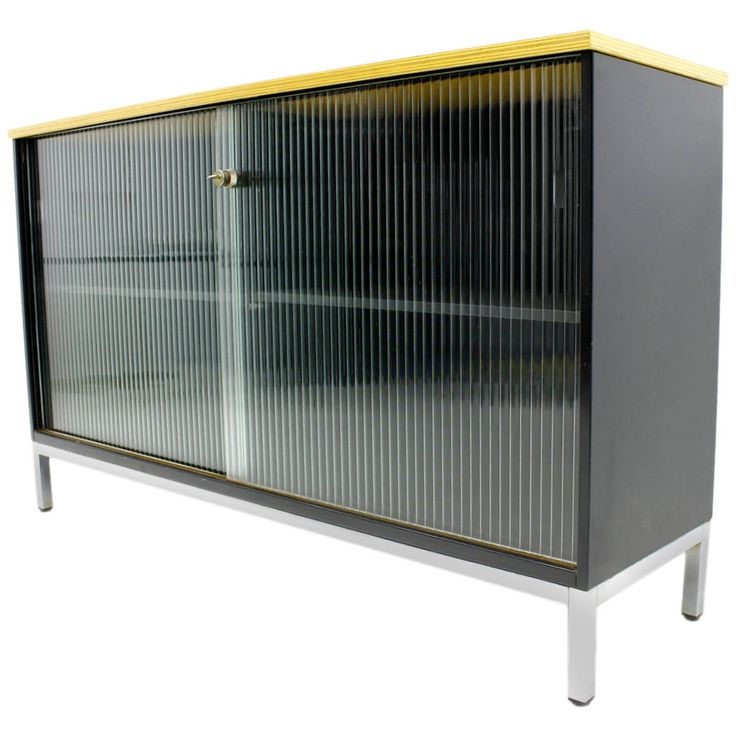 Metal, Wood and Glass Sideboard by Mauser, Germany, 1970s | From a unique collection of antique and modern sideboards at https://www.1stdibs.com/furniture/storage-case-pieces/sideboards/