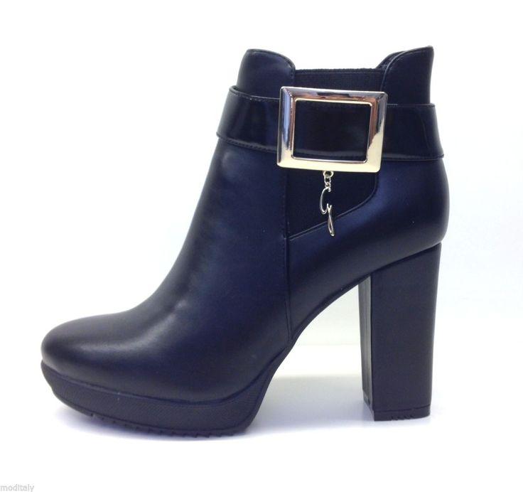 GATTINONI scarpe donna TRONCHETTO PINOL0190WCA000 NERO tacco gomma carrarmato   eBay