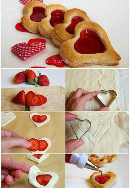 Galletas rellenas de fresa.