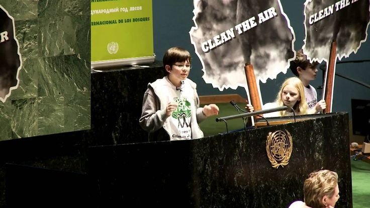 Felix Finkbeiner addresses United Nations with speech to open the Intern...