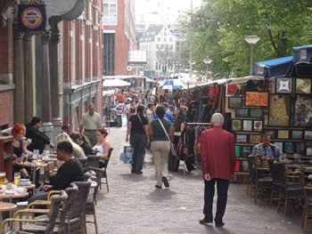 Waterlooplein Market in Amsterdam - bargains galore because haggling is encouraged!
