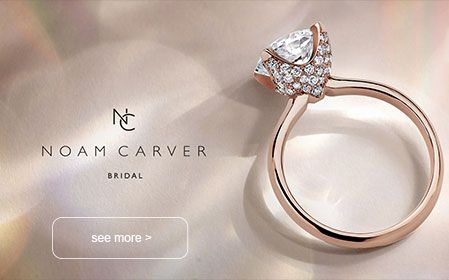 noam carver rose gold and diamond engagement ring
