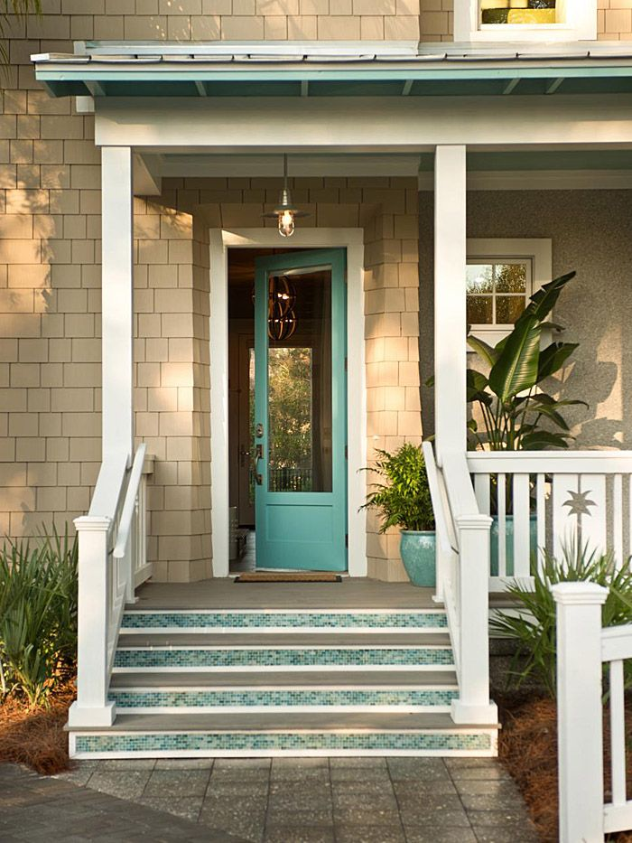 857 best images about exterior paint colors on pinterest for Teal front door