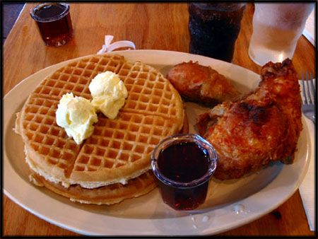 Roscoe's Chicken and Waffles. Definitely not good for the hips but DELICIOUS on the lips!