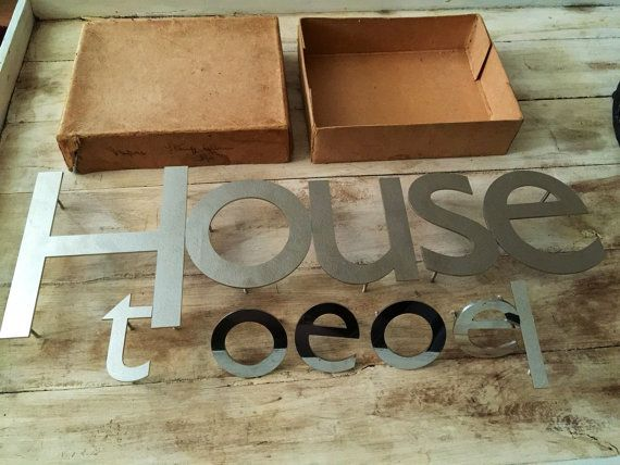 Stainless steel industrial wall letters / initials. REDUCED to 40 pound for all 11 letters.