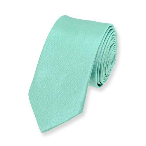 Schmale Krawatte minze