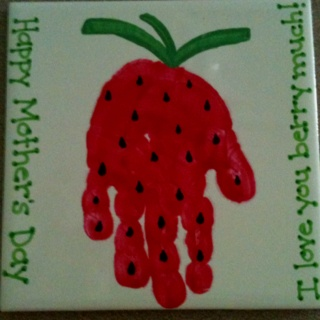 Handprint Strawberry Mothers Day I Love You Quot Berry Quot Much