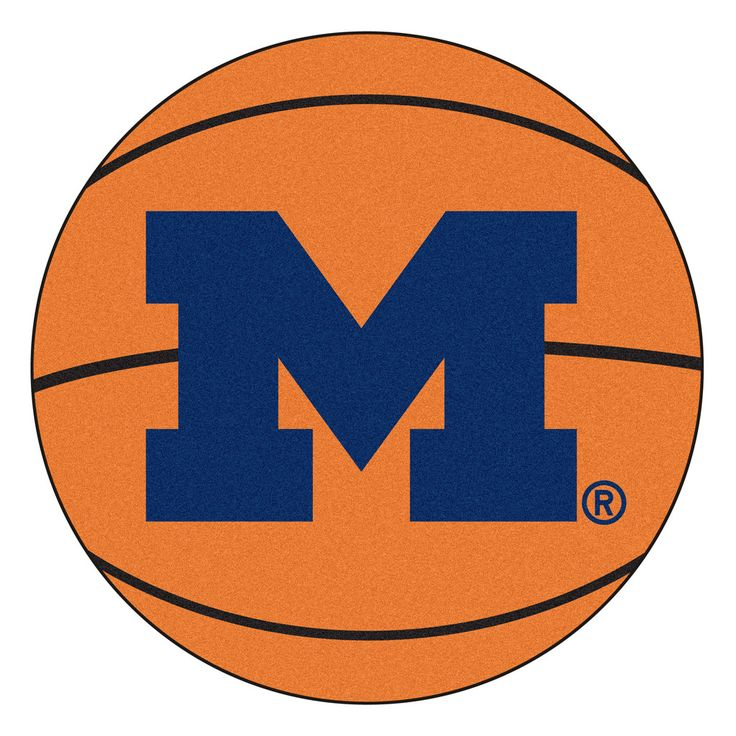 Michigan Wolverines Basketball Area Rug