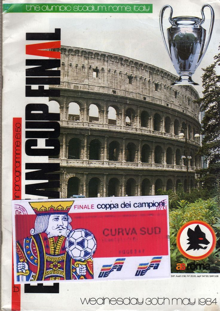 1984 European Cup Final programme and ticket